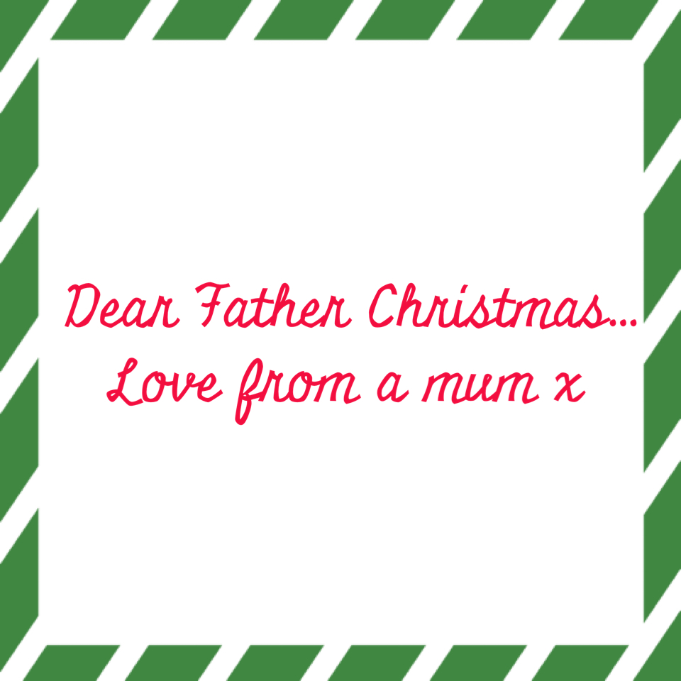 A mums letter to father christmas spiritdancerdesigns Image collections